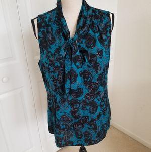 Classiques Enrier Silk Blend Print Blouse